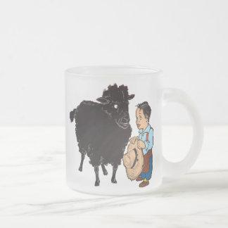 Baa Baa Black Sheep Frosted Glass Coffee Mug