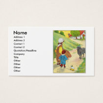 Baa, baa, black sheep, Have you any wool? Business Card