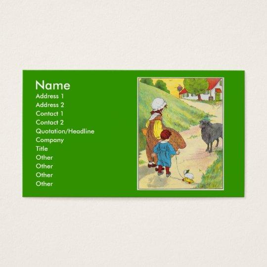 Baa, baa, black sheep, Have you any wool? Business Card