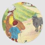 Baa, baa, black sheep, Have you any wool? Classic Round Sticker