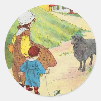 Baa, baa, black sheep, Have you any wool? Classic Round Sticker