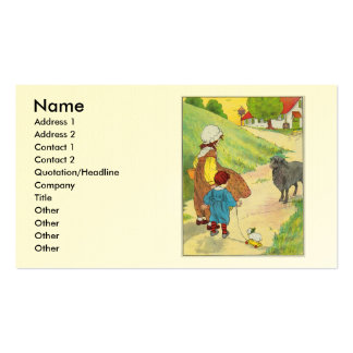 Baa, baa, black sheep, Have you any wool? Double-Sided Standard Business Cards (Pack Of 100)