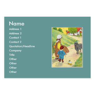 Baa, baa, black sheep, Have you any wool? Large Business Cards (Pack Of 100)