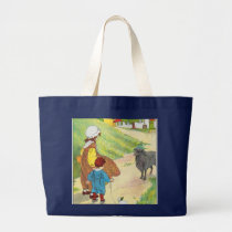 Baa, baa, black sheep, Have you any wool? Large Tote Bag