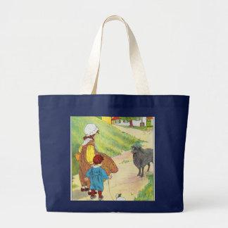 Baa, baa, black sheep, Have you any wool? Large Tote Bag
