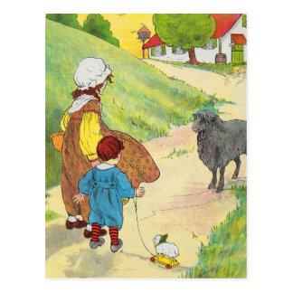 Baa, baa, black sheep, Have you any wool? Postcard