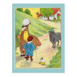 Baa, baa, black sheep, Have you any wool? Post Card