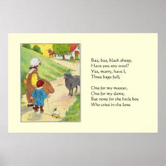 Baa baa black sheep Have you any wool Posters