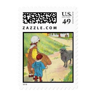 Baa, baa, black sheep, Have you any wool? Stamps