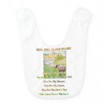 BAA BAA BLACK SHEEP - Nursery Rhymes for Toddlers Baby Bib