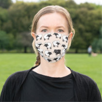 Baa Baa Black Sheep Pattern Cloth Face Mask