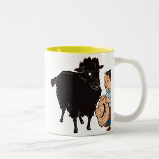 Baa Baa Black Sheep Two-Tone Coffee Mug