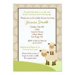"Baa Baa Sheep Baby Shower Invite Neutral 5"" X 7"" Invitation Card"