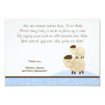 Baa Baa Sheep (Blue color) RSVP Enclosure Cards