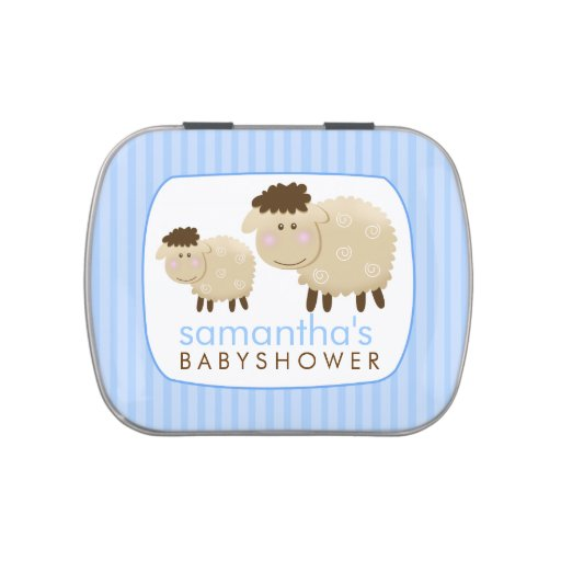 Baa Baa Sheep Farm Theme Favor Tin - Blue Jelly Belly Tins