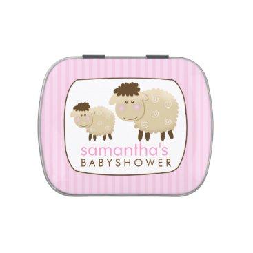 Baa Baa Sheep Farm Theme Favor Tin - Pink Jelly Belly Candy Tin