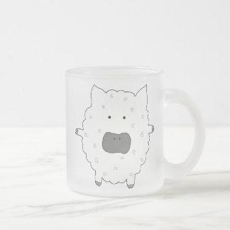 Baa Baa Sheep Frosted Glass Coffee Mug