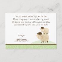 Baa Baa Sheep (Green color) RSVP Enclosure Cards