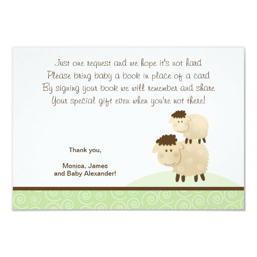 Baa Baa Sheep (Green color) RSVP Enclosure Cards