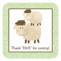 Baa Baa Sheep Lamb Square Envelope Seals 20