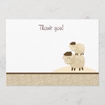 Baa Baa Sheep (Neutral) Flat Thank You notes