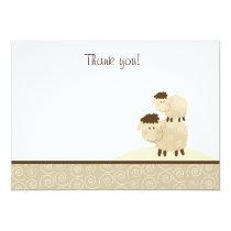 Baa Baa Sheep (Neutral) Flat Thank You notes Card