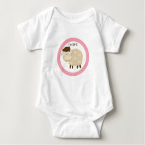 Baa Baa Sheep Pink Personalized Baby Bodysuit