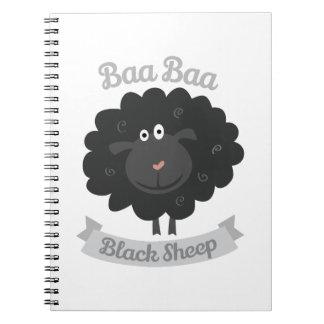 Baa Black Sheep Spiral Notebooks