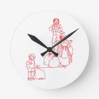 Baa Black Sheep Round Clock