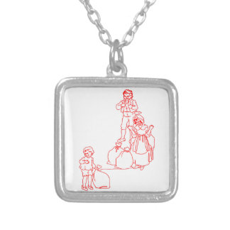 Baa Black Sheep Square Pendant Necklace