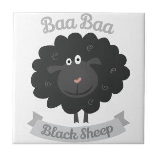 Baa Black Sheep Ceramic Tiles