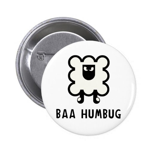 Baa Humbug 2 Inch Round Button