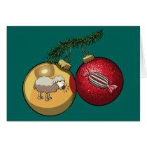 Baa Humbug Baubles Christmas Sheep & Candy Cartoon Card