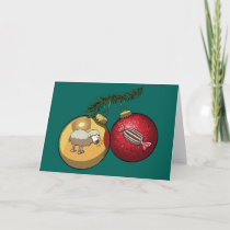Baa Humbug Baubles Christmas Sheep & Candy Cartoon Holiday Card