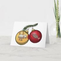 Baa Humbug Baubles Christmas Sheep & Candy Cartoon Holiday Card