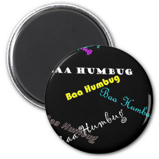 Baa Humbug (Black) Magnet