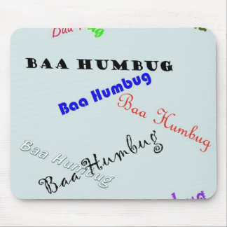 Baa_Humbug (blue) Mousepads