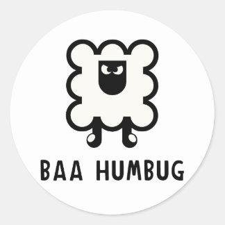 Baa Humbug Classic Round Sticker