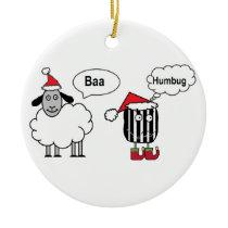 Baa Humbug Funny Christmas Ornament