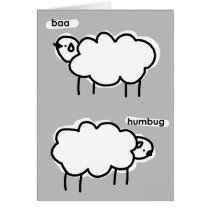 baa humbug greeting card