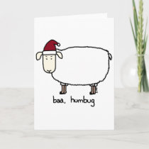 baa humbug holiday card
