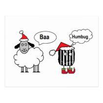 Baa Humbug Postcard