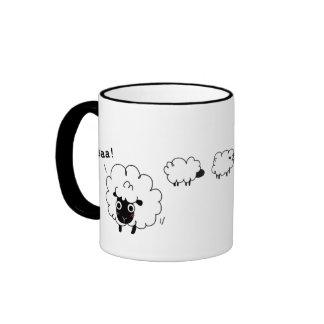 Baa! Ringer Coffee Mug