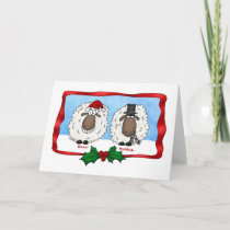 Baaa Humbug Cartoon Sheep Christmas Card