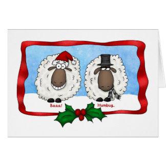 Baaa Humbug Cartoon Sheep Christmas Card