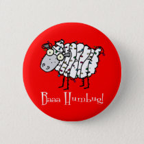Baaa Humbug Christmas Button
