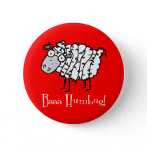 Baaa Humbug Christmas Button