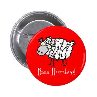 Baaa Humbug Christmas Pinback Buttons
