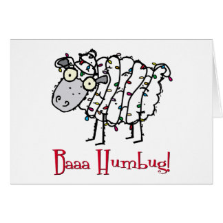 Baaa Humbug Christmas Card