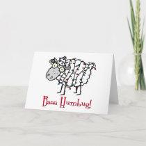 Baaa Humbug Christmas Holiday Card